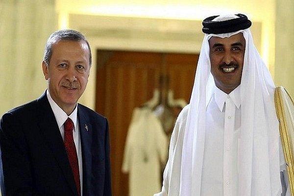 ترکی کے صدر اردوغان کی ٹیلیفون پر قطر کے بادشاہ سے گفتگو