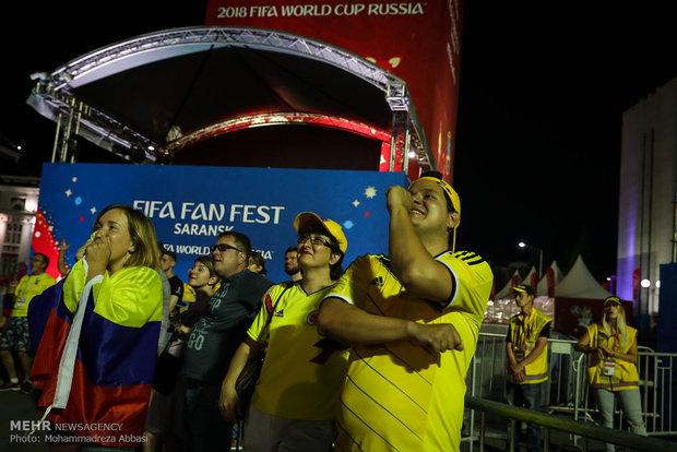 تجمع مشجعي المنتخب الايراني في قبيل مباراة ايران - برتغال