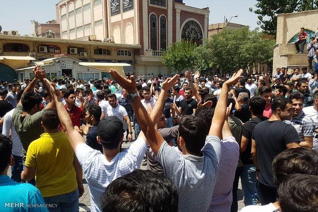 إحتجاجات في سوق طهران