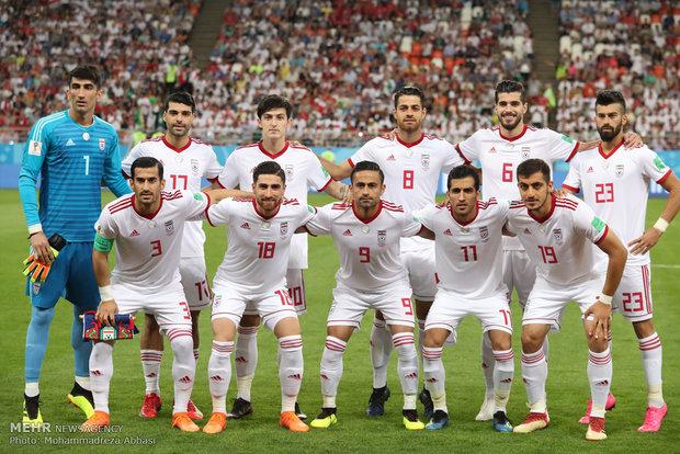 فوتبال ایران در رنکینگ فیفا پنج پله صعود کرد