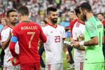 دیدار تیم های ملی فوتبال ایران و پرتغال