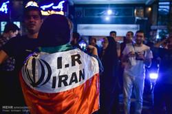 تہران میں ایران کی فٹبال ٹیم کی شاندار کارکردگی پر جشن(1)