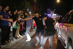 شادی تهرانی ها از بازی غیرتمندانه تیم ملی فوتبال - ۳