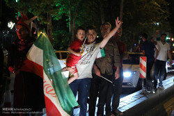 فرحة الشارع الايراني بالمباراة البطولية لمنتخبه في مونديال روسيا 2018/صور