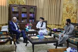 دیدار «حکمتیار» با سفیر اسبق آمریکا در افغانستان