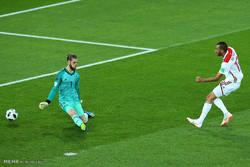 دیدار تیم های ملی فوتبال اسپانیا و مراکش