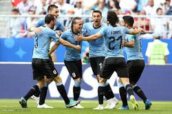 دیدار تیم های ملی فوتبال اروگوئه و روسیه