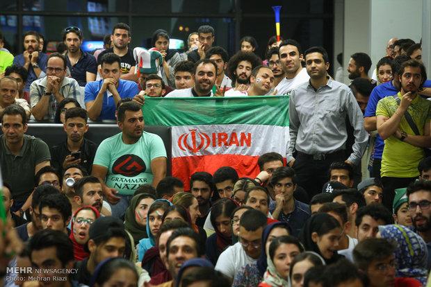 تماشای فوتبال ایران و پرتغال در چارسو