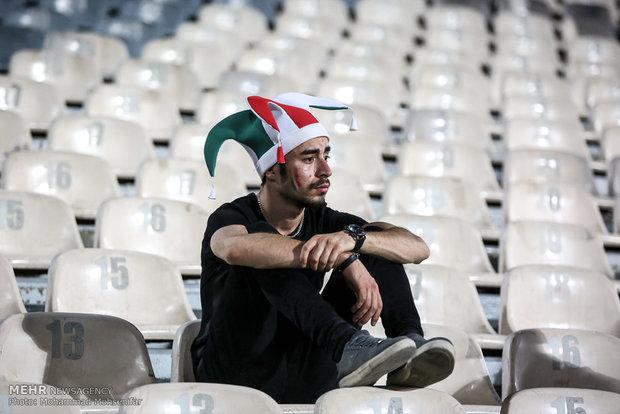 Families watch Iran-Portugal match at Azadi Stadium