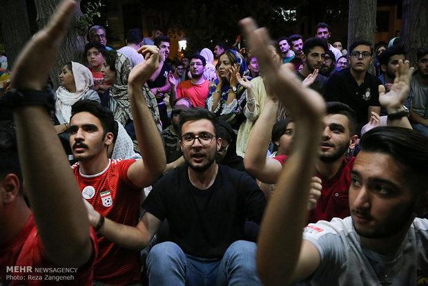 تماشای دیدار تیم ملی فوتبال ایران و پرتغال  در همدان
