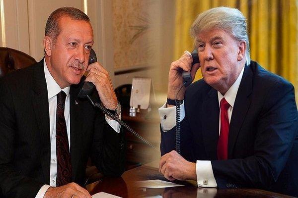 اردوغان و ترامپ گفتگو کردند
