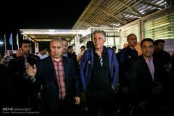 امام خمینی (رہ) ایئر پورٹ پر قومی فٹبال ٹیم کا استقبال