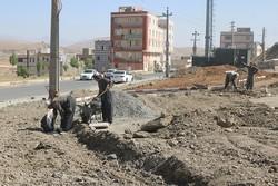 عملیات احداث پارک درون محله ای درشهرک ۵ آذرسنندج آغاز شد