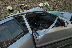 تصادف و سقوط خودرو در جاده ورامین/ ۱ نفر کشته شد