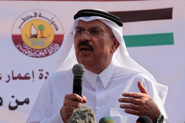رئیس کمیته قطری بازسازی نوارغزه وارد فلسطین شد