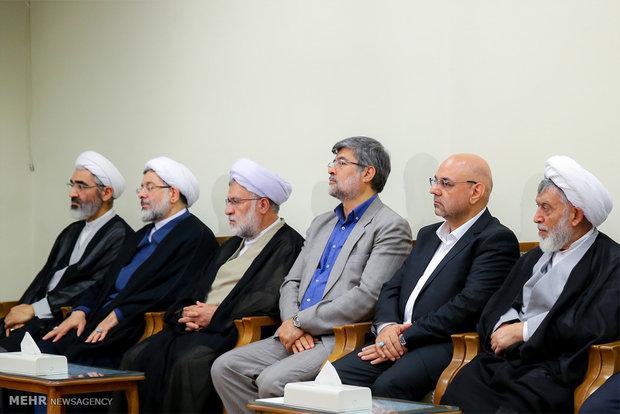 Leader receives Judiciary head, officials