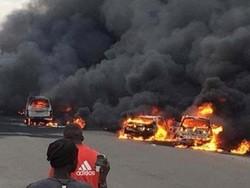 نائجیریا میں آئل ٹینکر میں آگ لگنے سے 9 افراد ہلاک