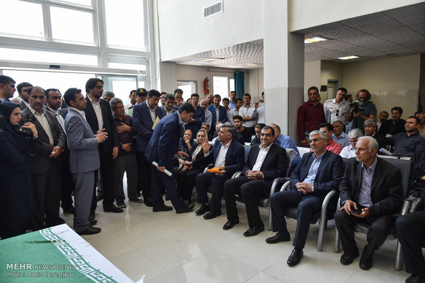 Inauguration of a 32-bed hospital in Fars province