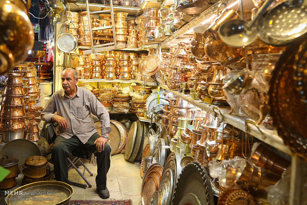 Mehr News Agency Hamedan S Coppersmith Bazaar