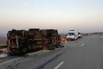 واژگونی اتوبوس در محور شیراز به اصفهان ۱۶ مصدوم داشت