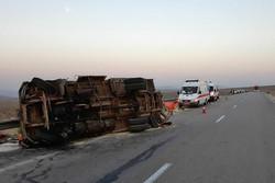 آخرین وضعیت واژگونی اتوبوس مرودشت/ ۶ کشته و ۱۵ مصدوم