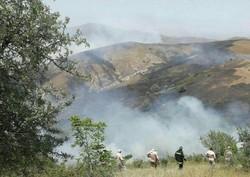 آتش سوزی در مراتع خداآفرین بعد از ۸ساعت تلاش مهار شد