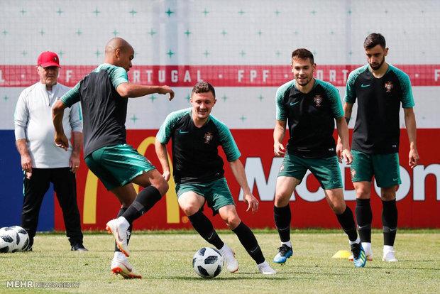 تمرینات تیم ملی پرتغال