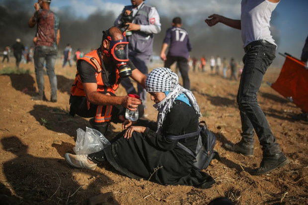 مشارکت هزاران فلسطینی در تظاهرات بازگشت در مرز غزه
