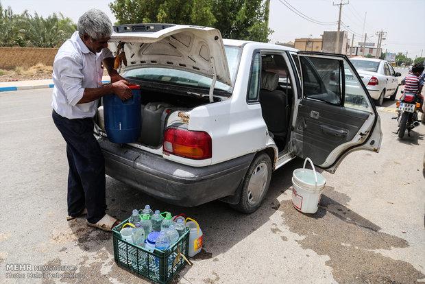 توزیع آب آشامیدنی در جزیره مینو