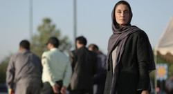 "Hedyeh Tehran acts in a scene from ""No Date, No Signature""."
