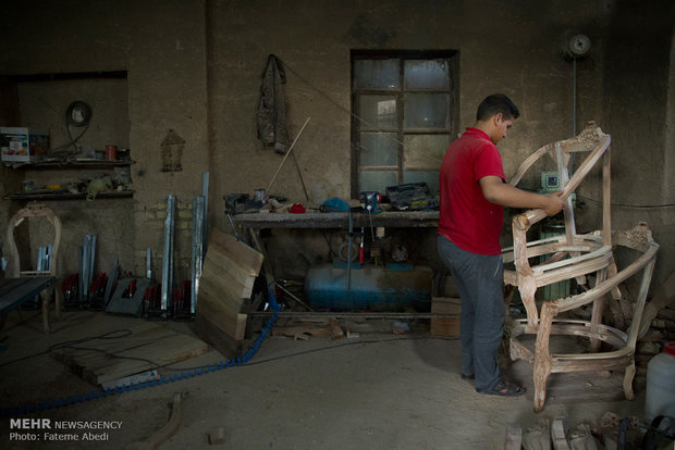 Woodcarving workshops in rural areas of Markazi province