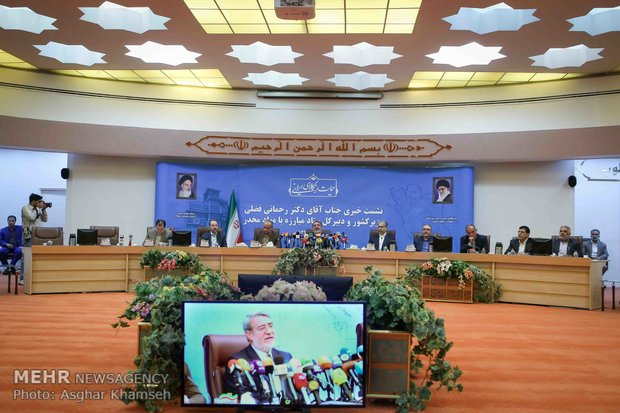 نشست خبري وزير کشور