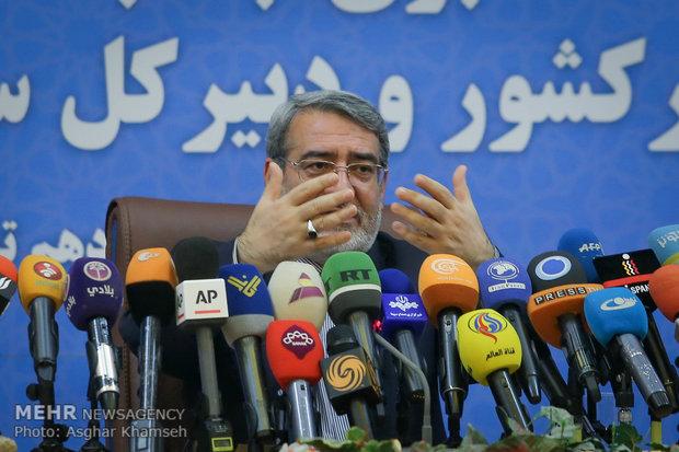 Interior min. holds presser in Tehran