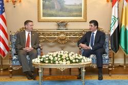 نچیروان بارزانی با هیأت آمریکایی در اقلیم کردستان عراق دیدار کرد