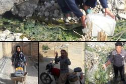 زندگی بدون آب در همنشینی با طلای سیاه/ اهالی روستا نفت میخورند!