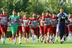 تمرین تیم فوتبال نساجی مازندران
