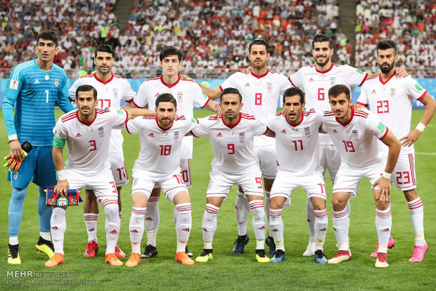 Iran football moves up 3 places in latest FIFA ranking