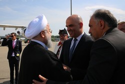 VIDEO: Swiss pres. welcomes Rouhani in Farsi
