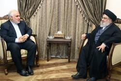 السيد نصرالله يستقبل السفير الايراني في زيارة وداعية