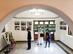 Visitors are seen in an exhibition of photos of North Korea at the Palestine Museum of Contemporary Art in Tehran on July 2, 2018. (IRNA)