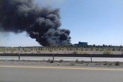 آتش سوزی کارخانه لاستیک کرمان