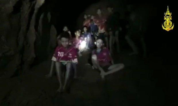 نجات پسربچه های تایلندی از غار