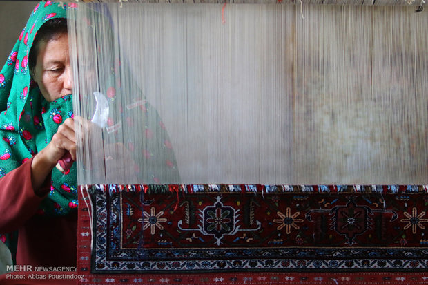 ُUnique Turkmen carpet 'Dorou'