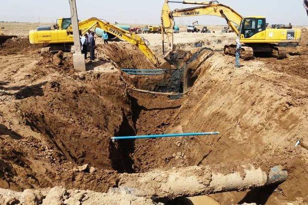 تلاش در ۱۰ جبهه کاری برای تکمیل آبرسانی به آبادان و خرمشهر