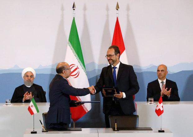 نشست خبری روسای جمهوری ایران و سوئیس