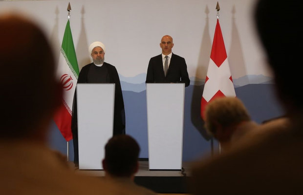 روسای جمهور ایران و سوئیس