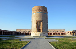 A view of the Sheikh-Heydar Mausoleum in Meshgin-Shahr, Ardebil province