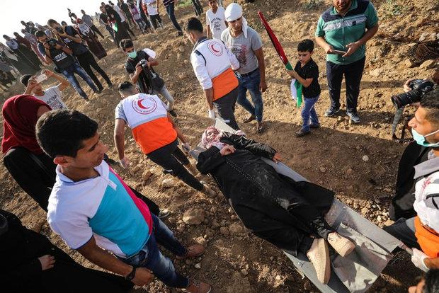 الاف النساء الفلسطينيات في مسيرات العودة