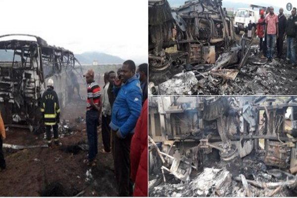 تصادف اتوبوس و کامیون در کنیا ۹ کشته و ۲۰ زخمی به دنبال داشت
