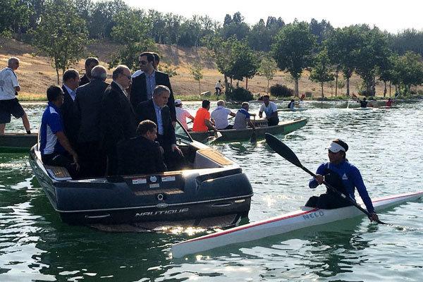بازدید وزیر ورزش و رئیس کمیته ملی المپیک از اردوی قایقرانی